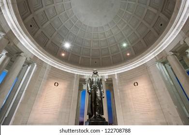Washington DC Thomas Jefferson Monumner Interior Bronze Statue and Declaration of Independence