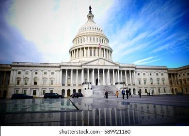Washington DC, United States. February 2nd 2017 - Capitol Hill Building in Washington DC