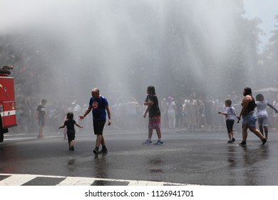Washington, DC / United States - June 30, 2018: Thousands of protesters took to the DC streets to protest the separation of children from their parents at the border. Families Belong Together
