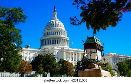 Washington DC, United States landmark. National Capitol building