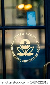 WASHINGTON, DC, UNITED STATES - MAY 6, 2019 Symbol Front Door Environmental Protectioin Agency EPA Washington DC