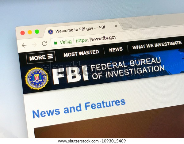 Washington, D.C., United States - May 17, 2018: Official homepage of The Federal Bureau of Investigation (FBI) the domestic intelligence and security service of the United States.