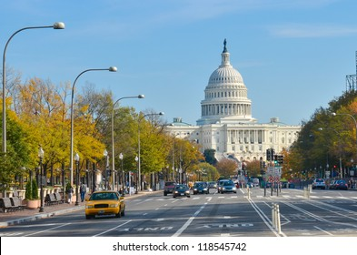 Washington DC - US Capitol building from Pennsylvania Avenue