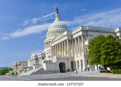 Washington DC, US Capitol Building in spring