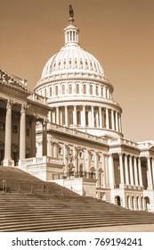 Washington DC, US Capitol Building - SEPHIA