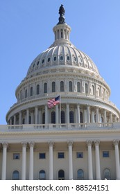 Washington DC, US Capitol Building, Dome Close up view,