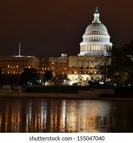 Washington DC, US Capitol at night