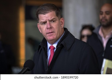 Washington, DC USA 1 8 2021 Marty Walsh is an Irish-American politician from Boston