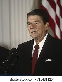 Washington DC. USA, 1984President Ronald Reagan News Conference