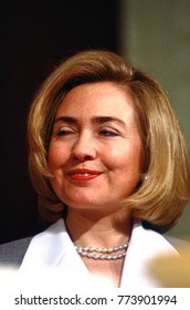 Washington, DC. USA,  1996 First lady Hillary Rodham Clinton portrait