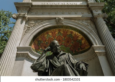 Washington, DC, USA - 2020 August 25: Memorial for Samuel Hahnemann, Founder of Homeopathy