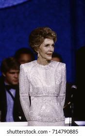 Washington DC. USA. 20th January,1985First Lady Nancy Reagan at the Inaugural ball held at the Sheraton Washington Hotel,