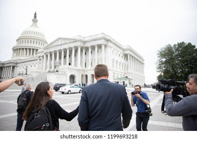 Washington DC, USA, 27th September, 2018- Hundreds gather in DC in support of Dr. Christine Ford as she testifies to the Senate Judiciary Committee.
