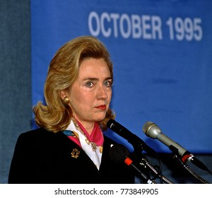 Washington, DC. USA, 27th September, 1995Hillary Rodham Clinton at the National Press Club.