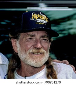 Washington, DC. USA, 31st August, 1991 Country Music artist WIllie Nelson during the AFL-CIO Rally in downtown DC.