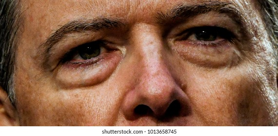 Washington DC, USA, 8th June,2017 Former FBI Director James Comey responds to questions from various Senators of the Senate Intelligence Committee during his testimony in front of the Committee today