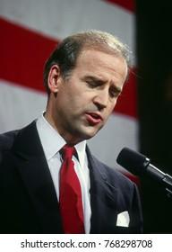 Washington, DC. USA, 9th June,1987Senator Joe Biden announces his candidacy for president from the Russell Senate Office building
