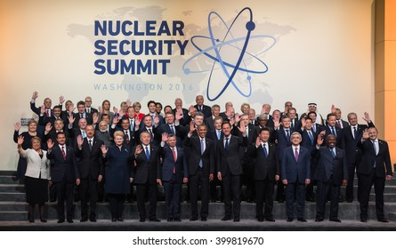 WASHINGTON D.C., USA - Apr 01, 2016: General Photo of the Nuclear Security Summit participants. The Nuclear Security Summit is a world summit, aimed at preventing nuclear terrorism around the globe