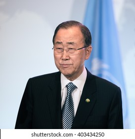 WASHINGTON D.C., USA - Apr 01, 2016: UN Secretary General Ban Ki-moon during the Nuclear Security Summit in Washington