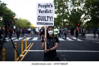 Washington, D.C. | U.S.A. - Apr 20, 2021: Derek Chauvin Found Guilty on all Three Charges, Justice Prevails for George Floyd and America (wait for sentencing)