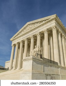 WASHINGTON, DC, USA - APRIL 06, 2015: United States Supreme Court building exterior.
