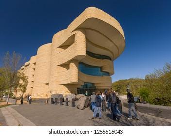 WASHINGTON, DC, USA - APRIL 15, 2008: Smithsonian National Museum of the American Indian