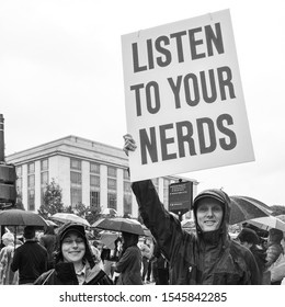 Washington, D.C. / USA - April 22 2018: Earth Day Inaugural March for Science in Washington, D.C.