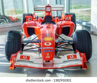 Washington, DC / USA – April 28, 2019: This Ferrari F2003-GA, one of the fastest F1 cars of all time, just sold in a private transaction but will remain part of the Ferrari Corse Clienti program.