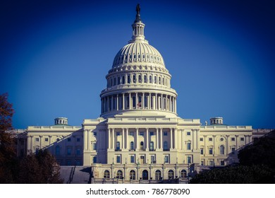 Washington, DC / USA - August 1, 2017: US Capitol