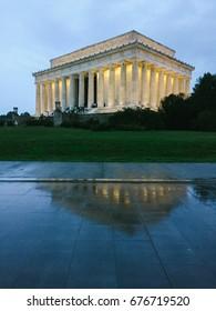 WASHINGTON D.C., USA - CIRCA MAY 2017: Lincoln Memorial in Washington D.C, at night.