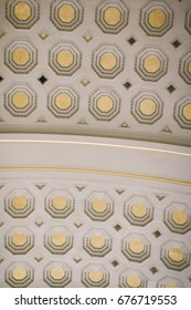 WASHINGTON D.C., USA - CIRCA MAY 2017: Detail of the ceiling of the Great Hall inside Union Station, the main train station in Washington, D.C.
