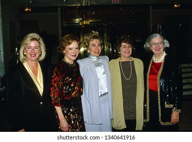 Washington DC, USA, December, 1992 Tipper Gore, Rosalynn Carter, Hillary Clinton at fundraiser