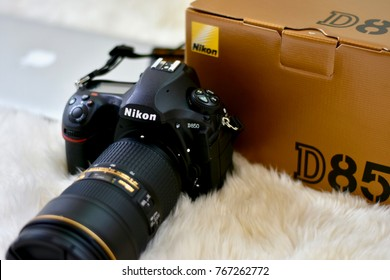 WASHINGTON DC, USA - DECEMBER 2, 2017: A Nikon D850 next to the product box.