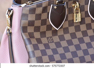 WASHINGTON DC, USA - FEBRUARY 09, 2017: A Louis Vuitton handbag displayed to show its beauty.