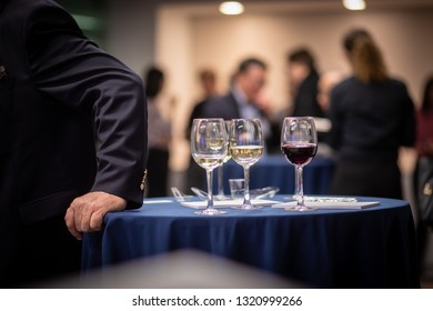 Washington, D.C. / USA - February 15, 2019: Alcoholic and non-alcoholic beverages are served at a free corporate networking event meant to connect business leaders.