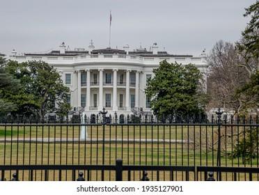 Washington, DC, USA February 24, 2020. The White House from near distance, Washington DC