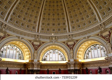 Washington DC, USA, Interior of the Library of Congress, August 6, 2017