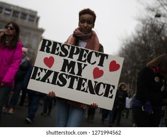 Washington D.C. / USA - Jan 21, 2017: Woman's March DC