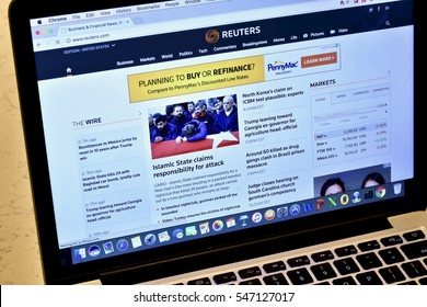 WASHINGTON DC, USA - JANUARY 02, 2016: An Apple Macbook Pro displaying the Amazon webpage with shopping opportunities for Amazon Prime users.