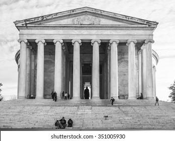 Washington DC, USA - January 1, 2015. The Thomas Jefferson Memorial is a presidential memorial in Washington, D.C. and it's dedicated to Thomas Jefferson (1743-1826)