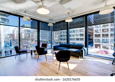 Washington, DC, USA January 19 2020: New building in Washington DC on the site of the old Washington Post headquarters. Building has WeWork offices