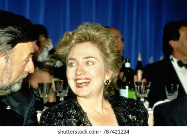 Washington DC, USA, January, 20th 1993 First Lady Hillary Rodham Clinton attends one of many Inaugrual Balls held in honor of her husband William Clinton being elected President