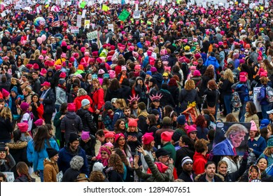 Washington, DC / USA - January 21, 2017: Womens March