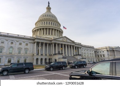 Washington, DC / USA - January 23, 2019: Senior members of Congress met today and Speaker Pelosi disinvited President Trump from delivering the State of the Union address from the Capitol.