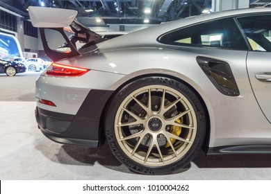 WASHINGTON, DC, USA -- January 25, 2018: a Porsche 911 GT2 RS is on display at the Washington, DC Auto Show.
