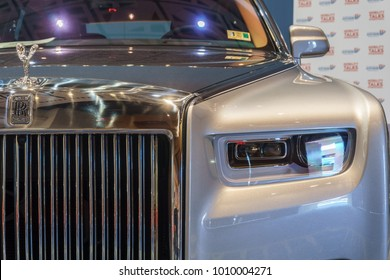WASHINGTON, DC, USA -- January 25, 2018: a Rolls-Royce Phantom VIII is on display at the Washington, DC Auto Show.