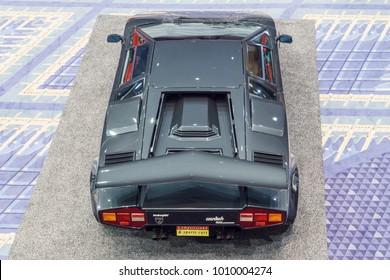 WASHINGTON, DC, USA -- January 25, 2018: a Lamborghini Countach is on display at the Washington, DC Auto Show.