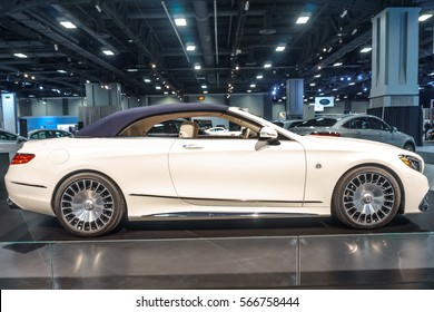 Washington, DC, USA -- January 26, 2017: a Mercedes-Maybach S 650 Cabriolet is on display at the Washington, DC Auto Show.