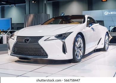 Washington, DC, USA -- January 26, 2017: a Lexus LC500H is on display at the Washington, DC Auto Show.