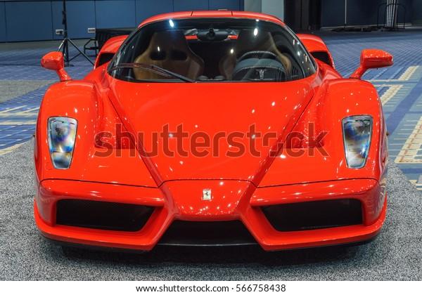 Washington, DC, USA -- January 26, 2017: a Ferrari Enzo is on display at the Washington, DC Auto Show.